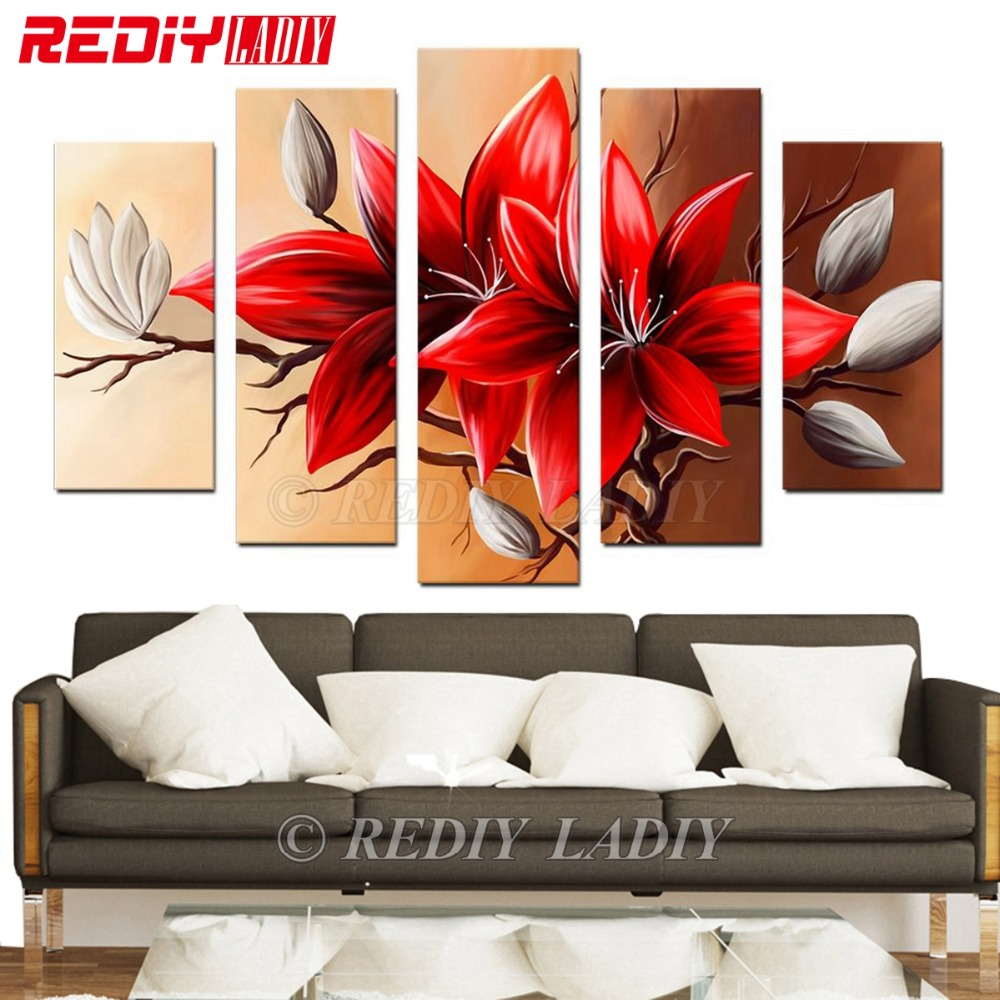 REDIY LADIY Diamond Painting Cross Stitch Triptych Full Diamond Embroidery Crystal Modular Picture Flowers Home Decoration