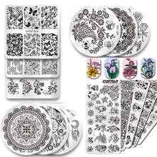 2019 New Series Nail Stamping Plates DIY Image Konad Nail Art Manicure Templates Stencils Salon Beauty Polish Tools