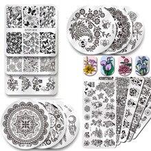 2019 חדש סדרת נייל Stamping צלחות תמונת DIY Konad נייל אמנות מניקור תבניות שבלונות סלון יופי פולני כלים