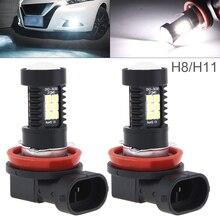 2Pcs 12V H8 H11 Car Led Bulbs 1200LM 6500K-7500K White Car Light Driving Running Car Lamp Auto Bulbs