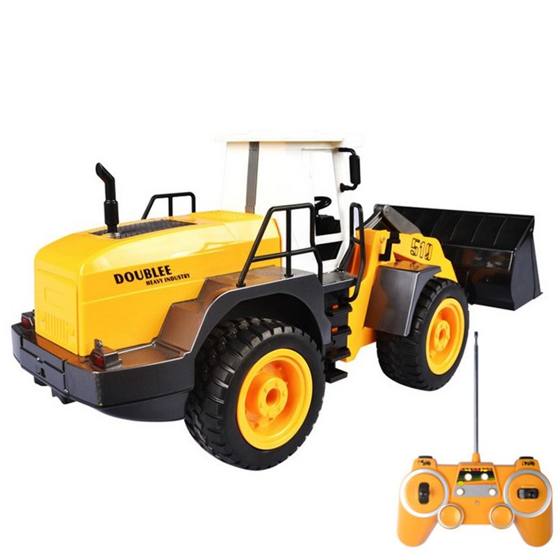 New Wireless Engineering Truck 2.4G 1:20 Demo Lighting Sound Shovel Loader Tractor RC Construction Vehicle Electronic Toys Game