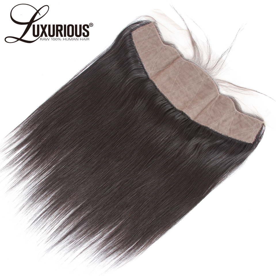 Straight 13x4 Ear To Ear Full Silk Base Lace Frontal Brazilian Remy Hair Free Part Pre Plucked Natural Hairline Hidden Knots