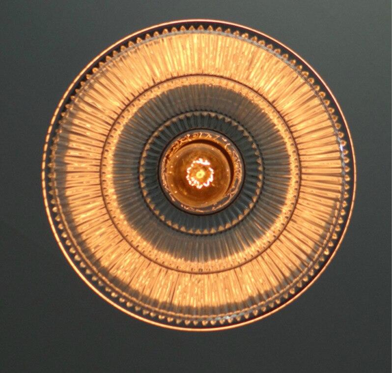 American retro nostalgia lamp lift glass mahjong lamp chandelier restaurant study lamp light material iron E27 AC110 240V - 5
