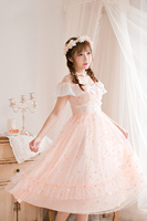 Princess sweet lolita Candy Rain dress Japanese sweet Floral Chiffon Dress slim Suspenders dress C22AB7155
