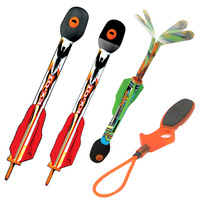 Boys Toys Outdoor Sport Kids Fly Rocket Zing Sky Ripperz Super Sonic Bungee Launched Rockets Flies