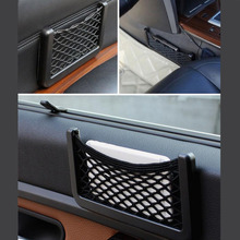 CDCOTN Car Storage Bag Mobile Phone Holder Auto Parts Net Plastic Sun Visor Tool Seat Supplies