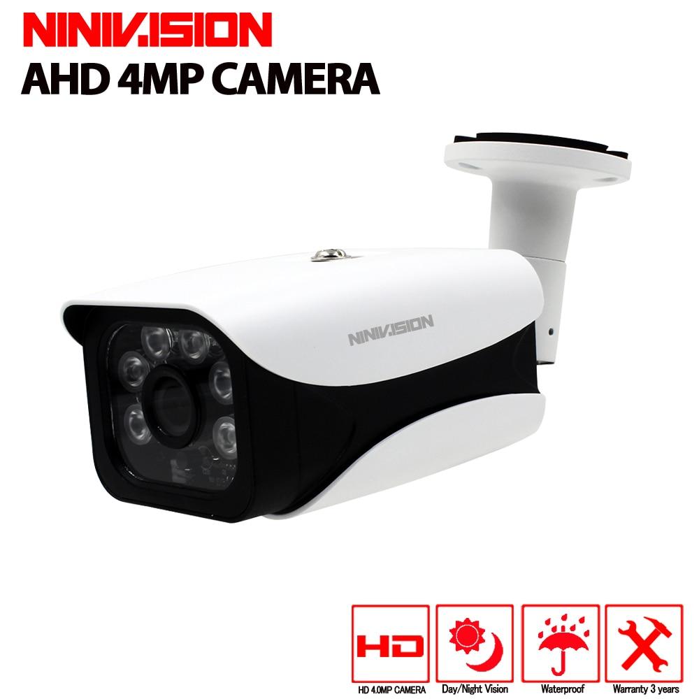NINIVISION Super Sicherheit AHD Kamera HD CCD Senser 2560*1440 p 4MP Überwachung Outdoor Indoor Wasserdicht 6 * Array infrarot Licht
