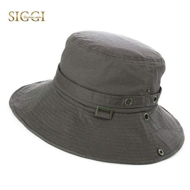 9b87df33d52 SIGGI Unisex Men Summer Bucket Sun Hat UPF 50+ packable Women cotton sunhat  outdoor boonie vented crown lining cap 89029