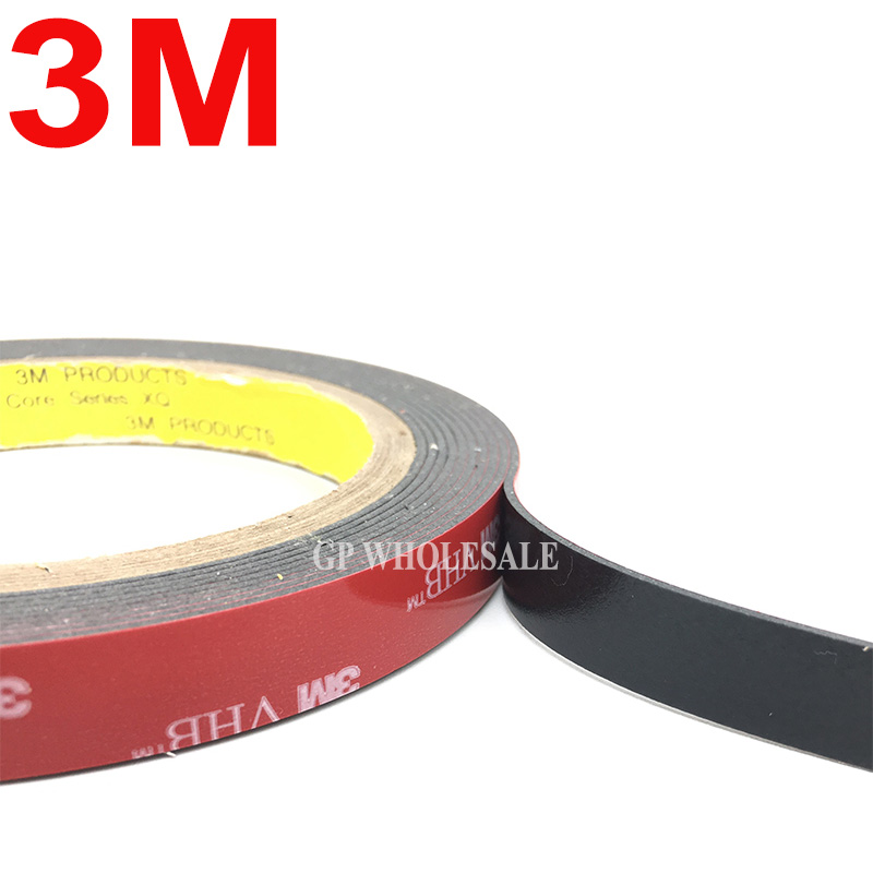 3M VHB 5952 Black Heavy Duty Mounting Tape Double Sided Adhesive Acrylic Foam Tape 30mmx3Mx1.1mm 1piece 3m vhb 5952 heavy duty double sided adhesive acrylic foam tape black 150mmx100mmx1 1mm