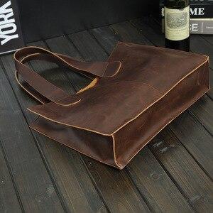 Image 3 - New Vintage Leather Briefcases Men Messenger Bag Brown/Black Luxury Business Briefcase Document Lawyer Laptop Bag Wholesale