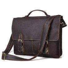 Valódi bőr férfi táskák Természetes tehénbőr bőr férfi táska Férfi táska portfólió válltáskák Man Messenger táskák # J7090