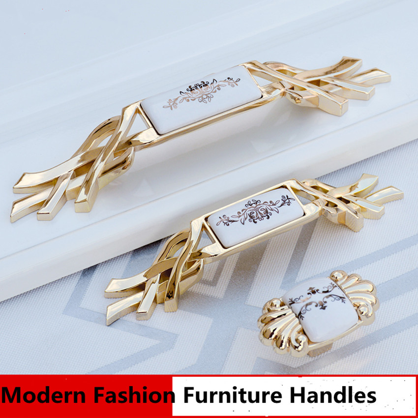 5 European-style high-end ceramic handle wardrobe door high-end gold cabinet door handle cabinet drawer pastoral kitchen handle 10pcs lot free shipping european style porcelain ceramic drawer cabinet wardrobe door knob 2050mbl
