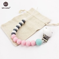 Abacus Beads Silicone Teething Pacifier Clip Soother Clip Baby Teether Silicone Teether Beads Food Grade Baby