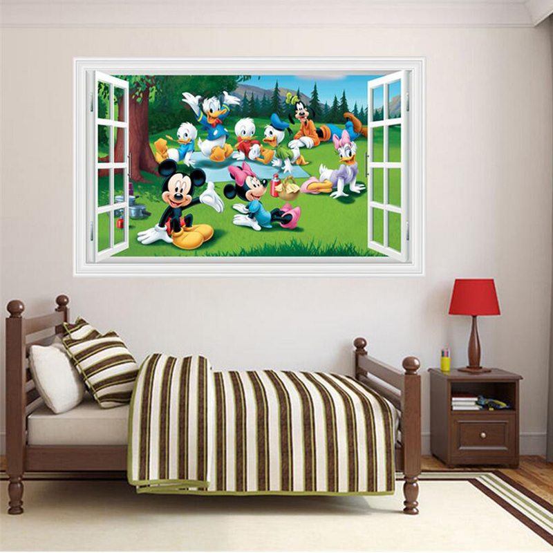 Stunning Baby Bedroom Wall Decor D Mickey Mouse Stickers Removable Kids  Wall Decals Living Room Wall Pictures With Mickey Mouse Baby Nursery