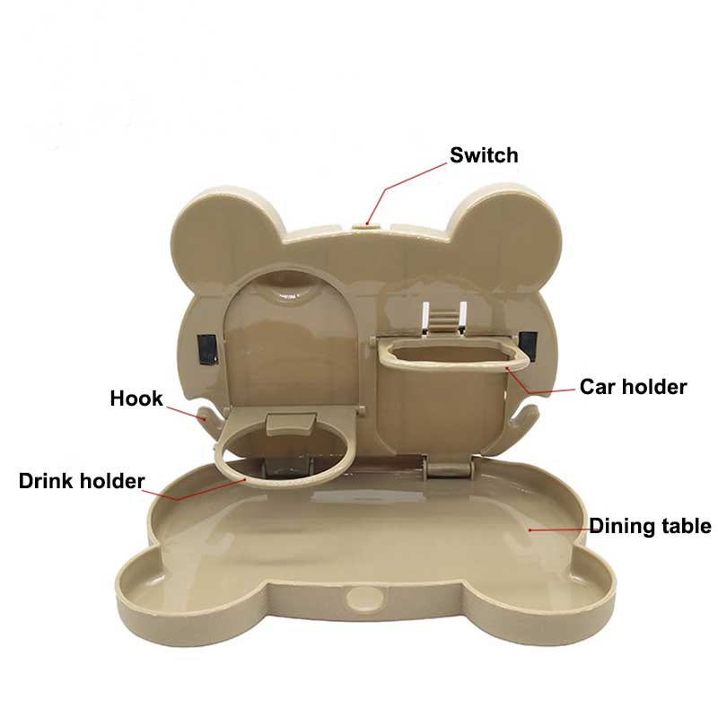 Child Table Car Seat Tray Storage Kids Toy Food Water Holder ...