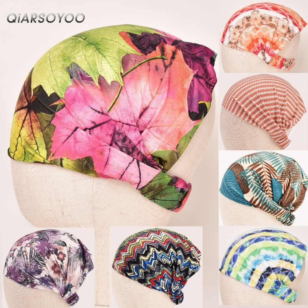 Perempuan Peregangan Bandana Printing Headband Sorban Elastis Rambut Band Gaya Bohemia Kepala Rambut Aksesoris Elastis Hai...