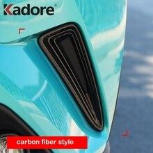 Для Toyota C-HR CHR 2016 2017 2018 углерода волокно передний бампер Гриль отделкой для вентиляционная решетка крышка обрамление Декор внешние аксессуары