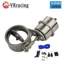VR-выпускной Управление Клапан с вакуумным приводом вырез 2.5 «63 мм трубы открытым Стиль со стержнем с Беспроводной удаленный Управление; комплект