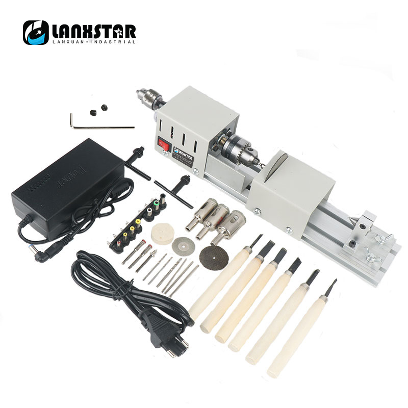 Manual Mini Lathe DIY Woodworking Small Beads Machine Polishing And Cutting Multi-Function Bracelet Puncher Set