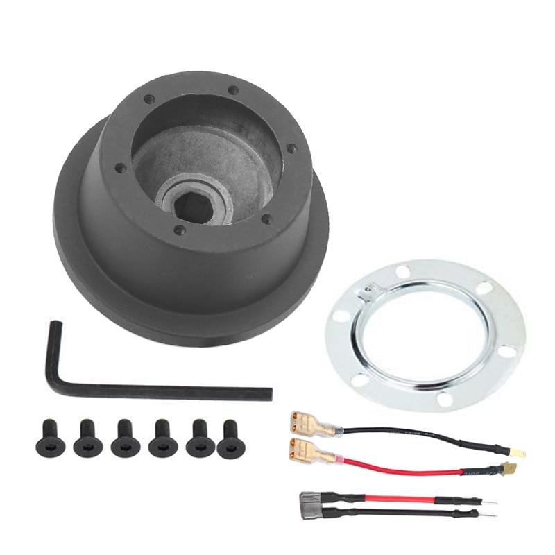 New 6 Bolt Black Car Steering Wheel Hub Adapter Boss Kit For Ford Mustang Focus Fiesta F 150 F 350 F 45 Mazda 2 VOLVO C30|Steering Wheels & Steering Wheel Hubs| |  - title=