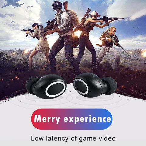VOULAO Wireless Headphone Bluetooth V5.0 Earphones TWS In-Ear Handsfree Headset Sport Earbuds For IOS Android With Charging Case Karachi