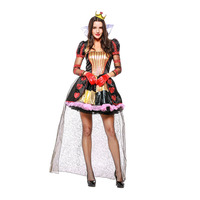 New queen of the peach heart dresses halloween Vampires costume sexy lace 2018 arrival game movies cosplay colthes 4pcs/sets