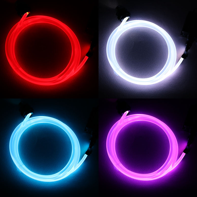 5mX Transparent Side Glow 3mm diameter plastic PMMA Fiber Optic Cable For Car Lighting Free Shipping