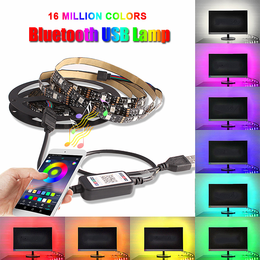 USB Light Cabinet Smartphone Bluetooth Controller Kitchen Under Cabinet LED Lighting For Home Wardrobe Light RGB LED Strip Lamps