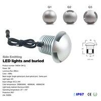 3 Вт CREE LED IP67 Открытый встраиваемые двухслойные Светодиодная лампа подземных 12 В 24 В пол свет 1/2 /3 способ тротуаров Освещение 12 шт./лот