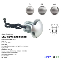 CREE LED IP67 12V 24V Outdoor Garden Patio Paver Recessed Deck Floor Wall LED Underground Lamp