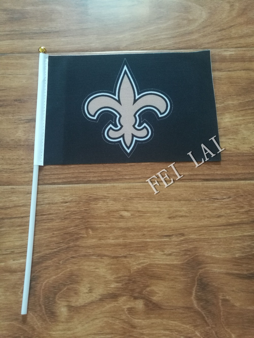 10pcs lot national flag country flag stick flags flag of the united - New Orleans Saints Flag 21 X 14cm Flag Hand Wave Flags Activities Party Decorations 10 Pcs