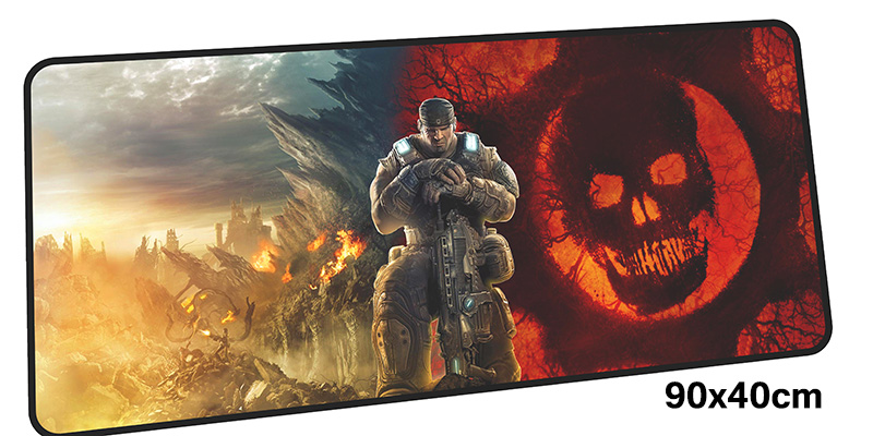 gears of war mousepad gamer 90x40cM gaming mouse pad large Professional notebook pc accessories laptop padmouse ergonomic mat