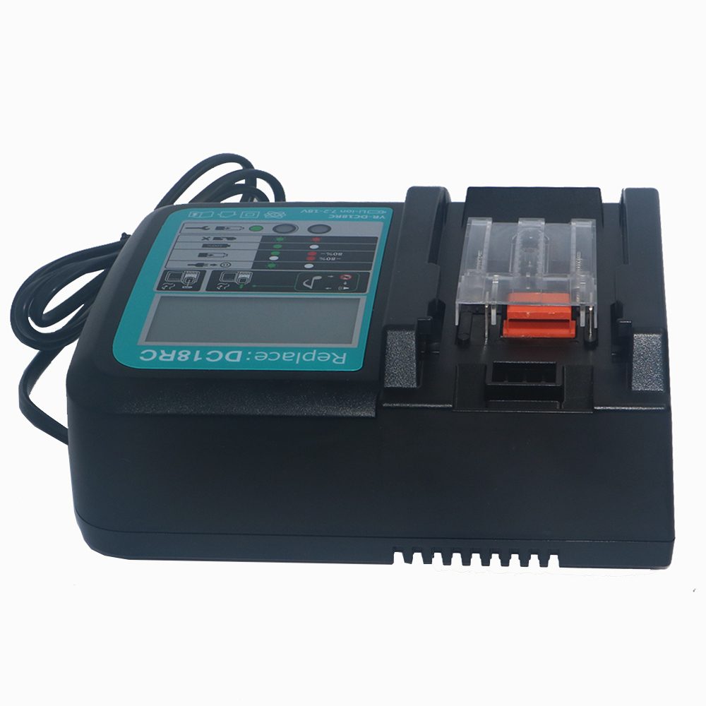 DC18RC 7.2V-18V Rapid Power Tools Li-ion Battery LCD Charger for Makita Power Tool Battery BL1830 BL1430 DC18RA DC18RC DC7100