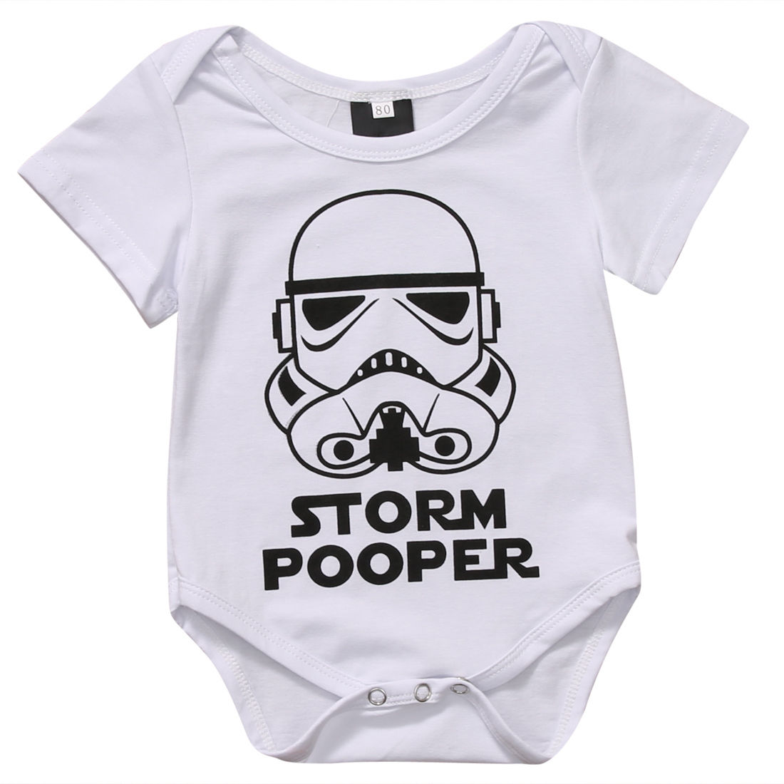0-18M Infant Newborn Baby Boy Girl Storm Pooper Short Sleeve Cotton   Romper   Jumpsuit Playsuit Tops Summer Clothes