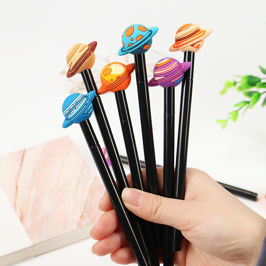 Cute 0.5mm Planet Gel Pen Kawaii Writting Pen Stationery Pens Material Office School Supplies