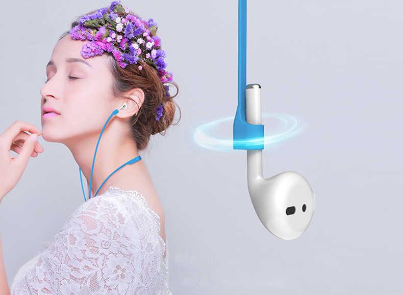 EKIND anty stracił silikonowy pasek pętli kabel sznurkiem dla Apple Airpods Air Pods bezprzewodowe słuchawki słuchawki douszne akcesoria