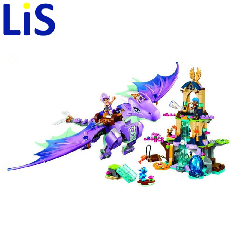 (Lis)Elves 10549 The Elf Series Dragon Protection Area With 41178 Children Assembled Toys Girl Gifts mobaks hxt 2045 novel zipper style universal 3 5mm jack wired in ear headset w microphone blue