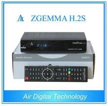 20 unids/lote CPU de Doble núcleo receptor de televisión Digital por satélite ZGEMMA H.2S Doble sintonizador DVB S2 & S con función iptv ningún plato