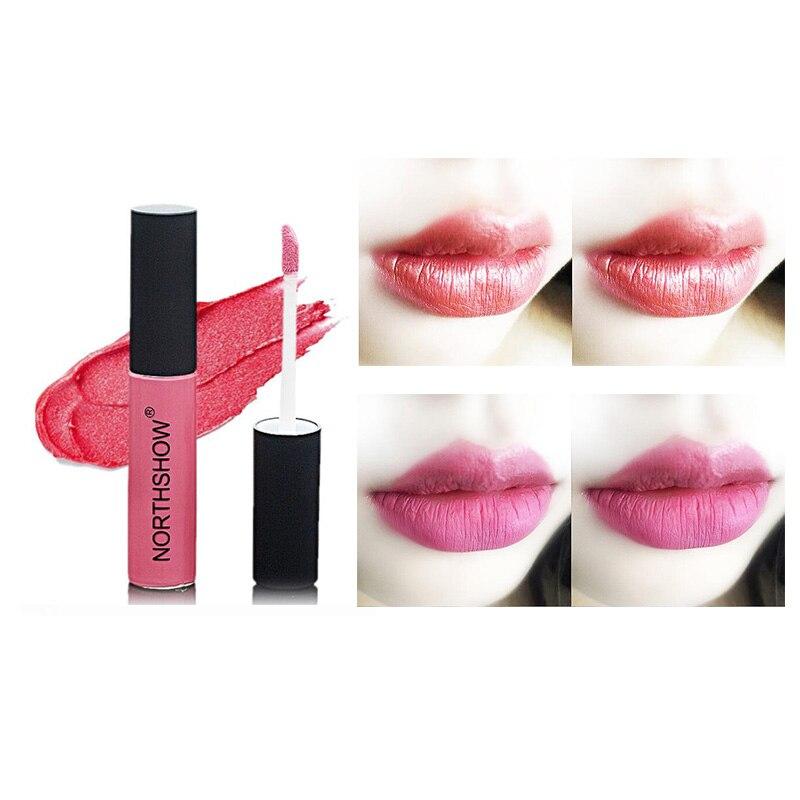 Moda Maquiagem 12 Cores Lip Glosses Líquido Sexy Batom Matte Veludo Batom Long-Lasting shimmer Lip Gloss Nu Vermelho cosméticos