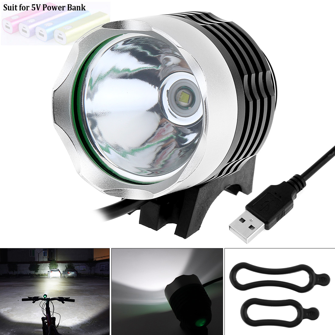 Securitying Selling 1200 Lumen XM-L T6 LED Bicycle Light Bike Light  For Bike Cycling Bike Bicycle Waterpoof Front Light & USB