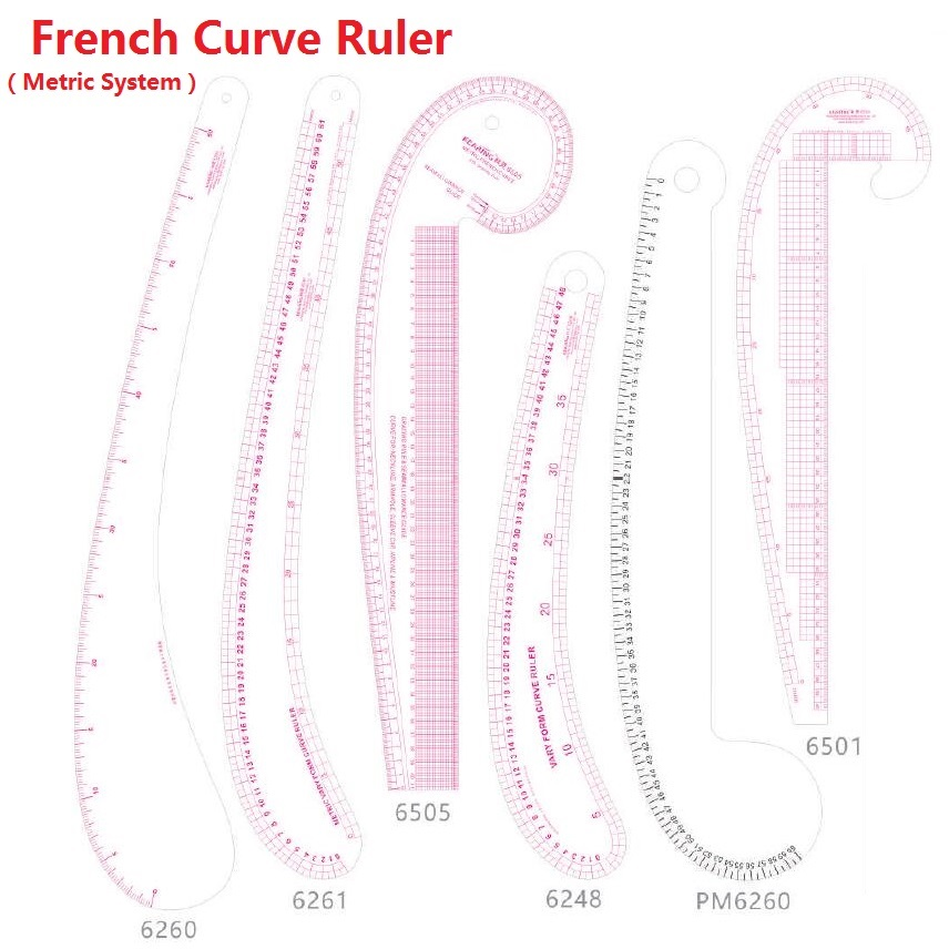 French Curve Ruler In Metrc System; Patchwork Rulers Choose Models/Colors From #6260 #6261 #6505 #6248 #6501 #6346 #6301 #6360