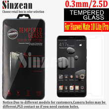 Sinzean 50PCS For Huawei mate 10 Pro/Lite tempered glass screen protector Film with retail box Free Shipping