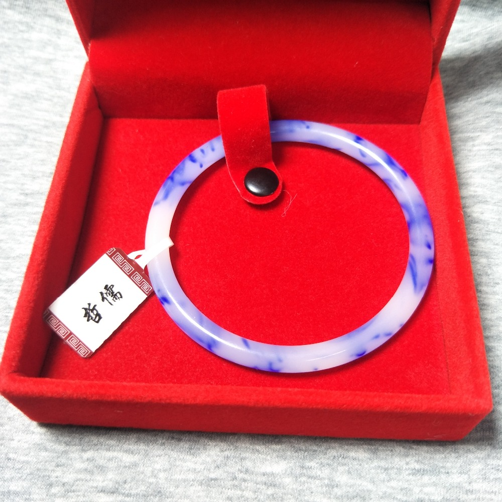 Zheru Jewelry Pure Natural Hetian Gold Silk Jade Bracelet Blue Two-color 54-62mm Female Gift A Class A National CertificateZheru Jewelry Pure Natural Hetian Gold Silk Jade Bracelet Blue Two-color 54-62mm Female Gift A Class A National Certificate
