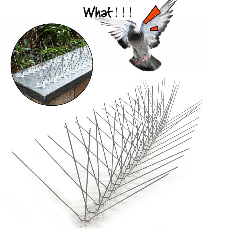 2M-10M Bird And Pigeon Spikes Pest Repeller Anti Bird Pigeon Spike For Get Rid Of Pigeons And Scare Birds Pest Control