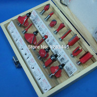 15PCS 1 4 6 35mm Shank Tungsten Carbide Router Bit Set Wood Woodworking Cutter Trimming Knife