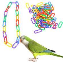 100 шт пластиковые игрушки для попугая c-зажимы крючки цепи c-звенья сахарный планер крыса попугай птица игрушка птица аксессуары красочные качели клетка часть