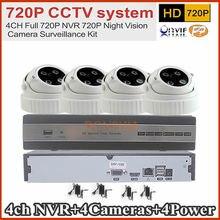 4CH NVR CCTV System 1.0MP IP Camera Video Security Surveillance System NVR Recorder System Kit Standalone Camera System