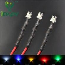 20 pz LED 3mm DIODO LED 12 V Pre Wired 12 v DC Flat top Emitting Diodes Grandangolare 20 CM FAI DA TE