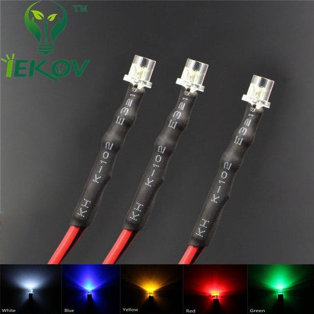 20pcs LED 3mm LED DIODE 12V Pre Wired 12v DC Flat top Emitting Diodes Wide Angle 20CM DIY