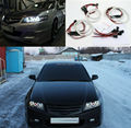 Para honda accord cl7 2002 2003 2004 2005 2006 2007 excelente 6 pcs smd led Angel Eyes 3528 SMD brillantes Estupendos led Angel Eyes kit
